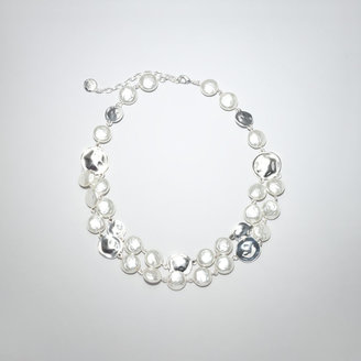 Jones New York Hammered Double Strand Circle Necklace