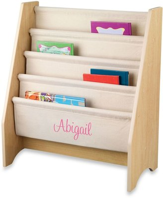 Kid Kraft Personalized Girl's Sling Bookshelf in Natural with Pink Lettering
