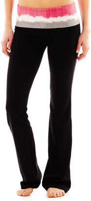 JCPenney Foldover Sequin Yoga Pants