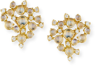 Paul Morelli Moonstone & White Diamond Bubble Cluster Earrings