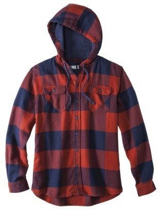 Mossimo Men's Long Sleeve Button Down Hooded Flannel - Assorted Colors