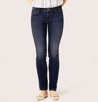 LOFT Curvy Skinny Jeans in Ornate Blue