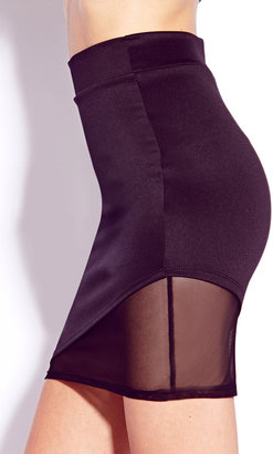 Forever 21 Show-Off Scuba Knit Skirt