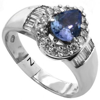 pristine (PR) 1.50Ct Tanzanite Diamond Ring