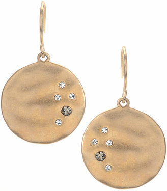 Kenneth Cole New York Earrings, Gold-Tone Crystal Circle Drop $24 thestylecure.com