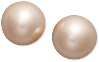 Charter Club Pink Simulated Pearl Stud (8 mm)
