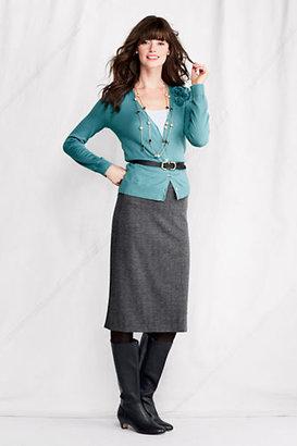 Lands' End Women's Regular Knit Jacquard A-line Skirt