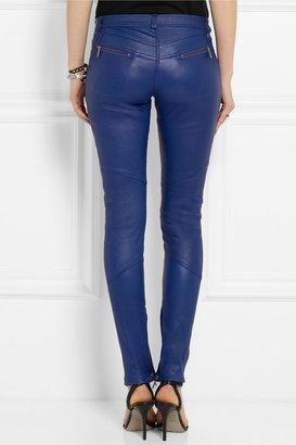 Karl Lagerfeld Bikey leather skinny pants
