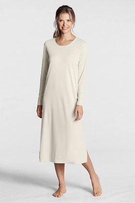 Lands' End Women's Regular Long Sleeve Midcalf Length Sleep-T Nightgown