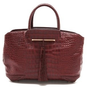 Brian Atwood Croc Embossed Grace Bag