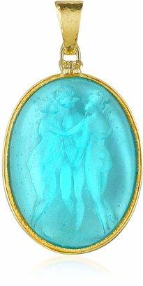 Tagliamonte Three Graces - 18K Gold Mother of Pearl Cameo Pendant