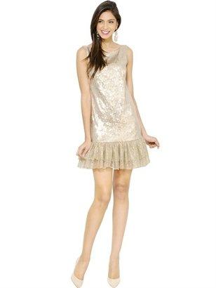 Blugirl Lace Ruffle Sequined Dress