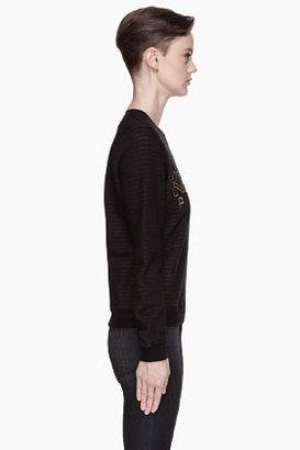 Kenzo Black striped gold logo Sweatshirt