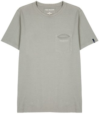 True Religion Grey Logo Cotton T-shirt