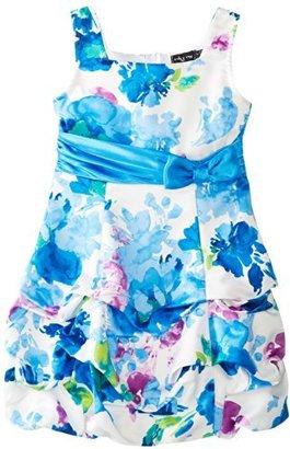 Ruby Rox Big Girls' Rouched Hem Dress
