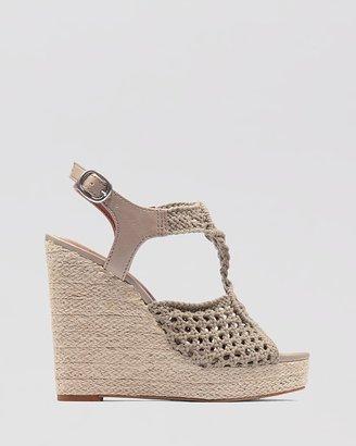 Lucky Brand Wedge Platform Sandals - Rilo Crochet