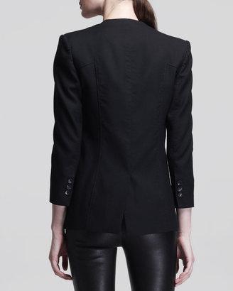 Helmut Lang Ark Single-Button Suiting Blazer