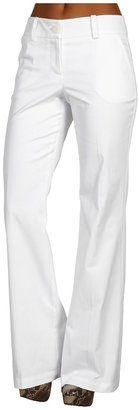 Trina Turk Flair Wide Leg Pant (White) - Apparel