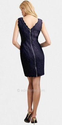 Adrianna Papell Sleeveless Lace Short Cocktail Dress