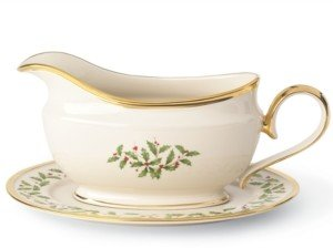 Lenox Serveware, Holiday Sauce Boat with Stand