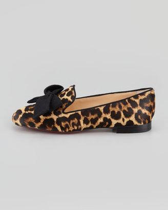 Christian Louboutin Gine Leopard-Print Calf Hair Slipper