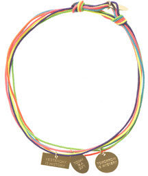 La Mome Bijou Multi-coloured slogan charm bracelet