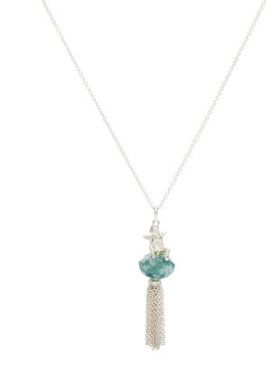 Bill Skinner Cherub Tassel Necklace