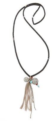 Chan Luu Tassel Charm Necklace