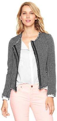 Gap Raw-edge tweed jacket