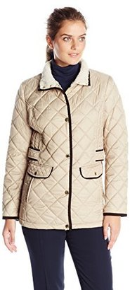 Nautica Women's Diamond Quilted Barn Jacket $170 thestylecure.com