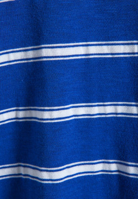 Michael Stars Hampton Stripe Short Sleeve V Neck Tee