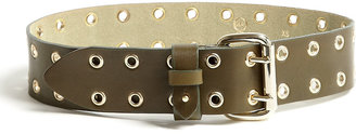 McQ by Alexander McQueen Military Eyelet Leather Belt