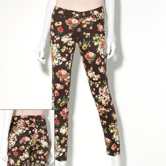 Vera Wang Princess floral twill skinny jeans - juniors