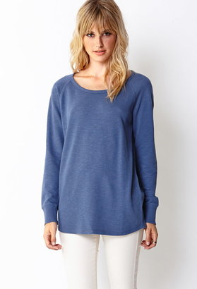 Forever 21 Contemporary Off-Duty Longline Sweatshirt