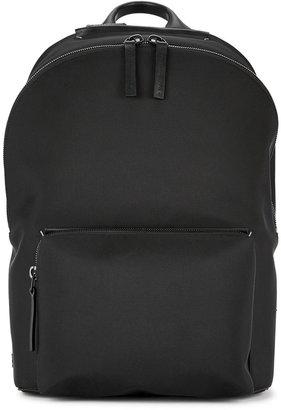 Troubadour Black Waterproof Canvas Backpack