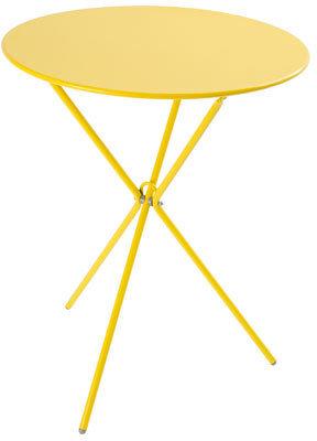 Vue Elwood Steel Folding Table in Yellow