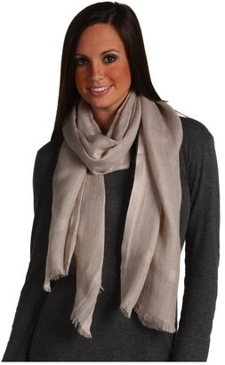 Love Quotes Linen Eyelash Fringe Scarf (Espresso) - Accessories