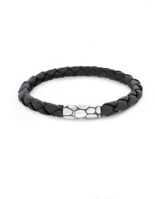 John Hardy Woven Leather Bracelet