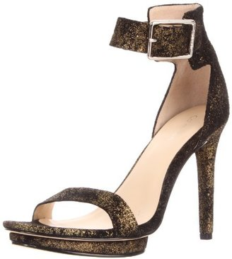 Calvin Klein Women's Vivian Metallic Suede Sandal