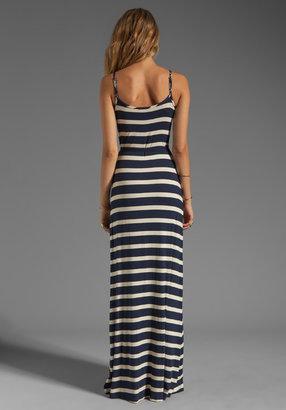 LAmade Stripe Side Slit Tank Maxi Dress in Galaxy/Oatmeal
