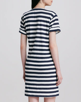 Theory Karelo Striped Slub Dress