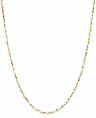 "Giani Bernini 18"" Twist Chain Necklace in 18K Gold over Sterling Silver"
