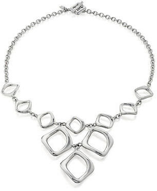 Gump's Sterling Silver Wave Charm Necklace