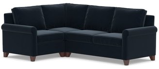 Pottery Barn Cameron Roll Arm Upholstered 3-Piece Sectional