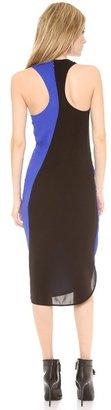 Vera Wang Collection Sleeveless Bi-Color Dress