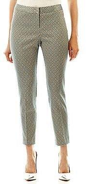 JCPenney Worthington® Slim Jacquard Ankle Pants