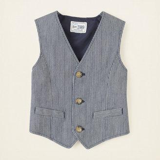 Children's Place Railroad stripe vest