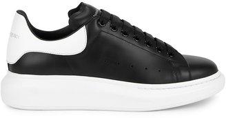 Alexander McQueen Larry Monochrome Leather Sneakers