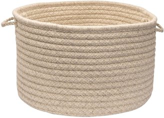 """Colonial Mills Natural Wool Check 18"""" x 12"""" Utility Basket"""