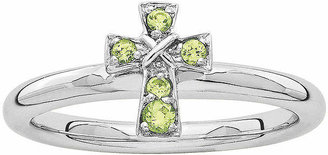 Silver Cross FINE JEWELRY Personally Stackable Genuine Peridot Sterling Ring
